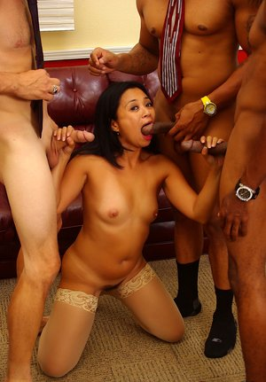 Interracial Gangbang Porn Pictures